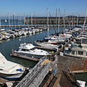 Boats At The San Francisco Pier 39 Docks 5d26004 Art Print