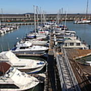 Boats At The San Francisco Pier 39 Docks 5d26005 Art Print