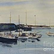 Boats In A Harbour Art Print