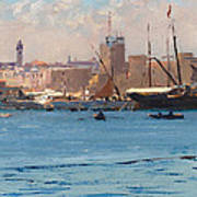 Boats In A Port Art Print