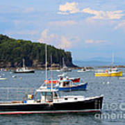 Boats In Bar Harbor Art Print