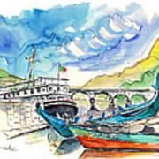 Boats In Barca De Alva 02 Art Print