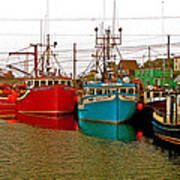 Boats In Branch Marina-nl Art Print