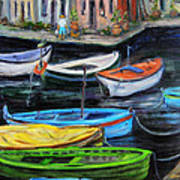 Boats In Front Of The Buildings II Art Print
