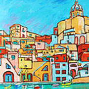 Boats In Front Of The Buildings Vii Art Print