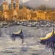 Boats In Malta Art Print