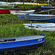 Boats In Marsh - Cape Neddick - Maine Art Print