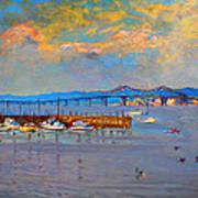 Boats In Piermont Harbor Ny Art Print