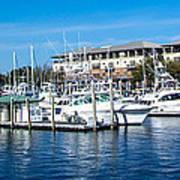 Boats In Port 5 Art Print