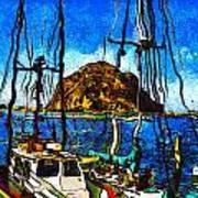 Boats Of Morro Bay Art Print