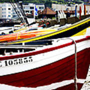 Boats On A French Beach Art Print