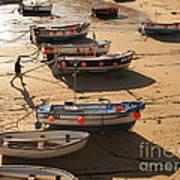 Boats On Beach Art Print by Pixel  Chimp