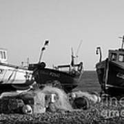Boats On Beer Beach Art Print