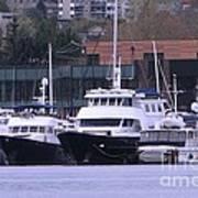 Boats On Lake Union Art Print