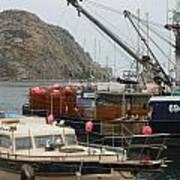 Boats On Morro Bay Art Print