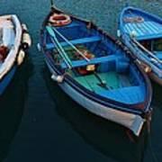 Boats Trio Art Print