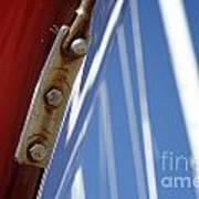 Boatyard Red White And Blue Art Print