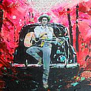 Bob Dylan - Crossroads Art Print