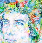 Bob Dylan Watercolor Portrait.3 Art Print