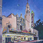 Bob Hope Theatre Art Print by Vanessa Hadady BFA MA
