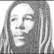 Bob Marley Painting Art Print