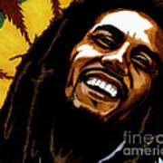 Bob Marley Rastafarian Art Print