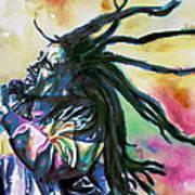 Bob Marley Singing Portrait.1 Art Print