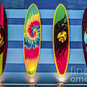 Bob Marley Surfing Display Art Print