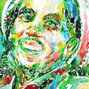 Bob Marley Watercolor Portrait.2 Art Print