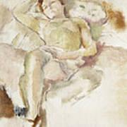 Bobette Lying Down Bobette Allongee Art Print
