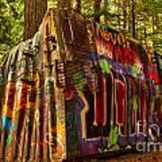Box Car Along The Cheakamus River Art Print