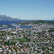 Bodø Airial View, North Norway Art Print