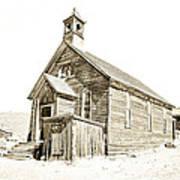 Bodie Ghost Town Church Art Print