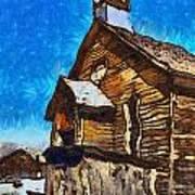 Bodie Ghost Town Methodist Church Art Print