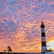 Bodie Island Lighthouse At Sunrise Vetical Art Print