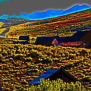 Bodie Sunset Art Print