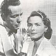Bogart And Bergman Art Print