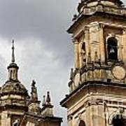 Bogota Cathedral Towers Art Print
