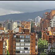 Bogota City View Art Print