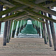 Bogue Banks Fishing Pier Art Print