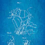 Bohlin Seatbelt Patent Art 1962 Blueprint Art Print by Ian Monk