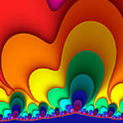 Bold Colors Fractal Art Print