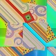 Bold Geometric Abstract  Art Print