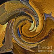 Bold Golden Abstract Art Print