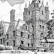 Boldt Castle With Seagull Art Print