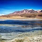 Bolivia Desert Lake Framed Art Print