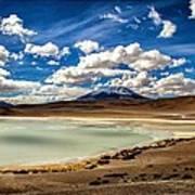 Bolivia Lagoon Clouds Framed Art Print