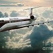Bombardier-canadair Regional Jet Crj Art Print