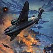 Bombing Scene Artist C E Turner  Art Print