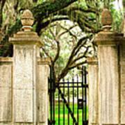 Bonaventure Cemetery Gate Savannah Ga Art Print